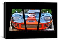Ford GT Triptych, Canvas Print