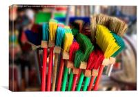 Brushes, Canvas Print