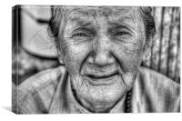 Old lady, Canvas Print