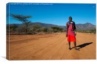 Maasai Warrior , Canvas Print