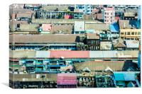 Roof tops, Canvas Print