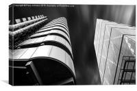 Lloyds and Leadenhall Buildings, Canvas Print
