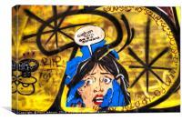 Bye Bye Barcelona, Canvas Print