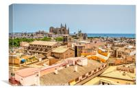 Palma Roof Tops, Canvas Print