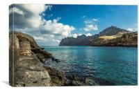 Cala Sant Vicenç on the beautiful island of Mallor, Canvas Print
