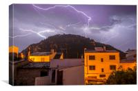 Lightning over the Puig, Canvas Print
