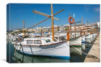 Small boats in Port de Pollensa , Canvas Print