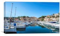 Small boats, Port de Soller, Mallorca, Canvas Print