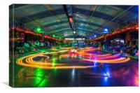 Dodgems , Canvas Print