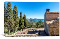 View from the Puig de Maria, Canvas Print