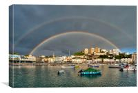 Double Rainbow Torquay, Canvas Print