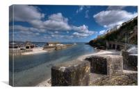 Low Tide on the Looe River, Canvas Print
