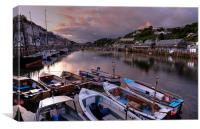 Sunset on the Looe River, Canvas Print