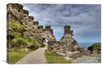 Tintagel Castle North Cornwall, Canvas Print