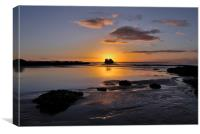Sunrise Black Rock Millendreath Looe, Canvas Print