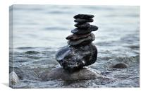 Well Balanced Stones, Canvas Print