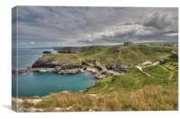 View from Tintagel Castle, Canvas Print
