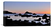 Low Tide Sunrise Meadfoot Beach, Canvas Print