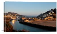 Early morning at Looe Cornwall, Canvas Print