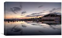 Sunset over Torquay, Canvas Print