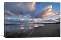 Cloud Reflections Hayle Sands, Canvas Print