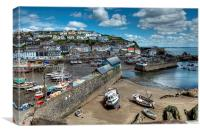 Mevagissey Outer and Inner Harbour, Canvas Print
