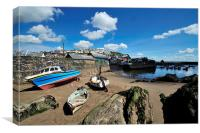 Mevagissey Outer Harbour at Low Tide, Canvas Print