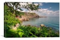 Ansteys Cove Torquay and Long Quarry Point, Canvas Print
