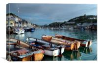 Ferry boats on the River Looe, Canvas Print