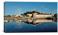 Torquay Harbour and Big Wheel Reflections, Canvas Print