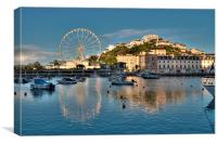 Torquay Harbour and Big Wheel, Canvas Print