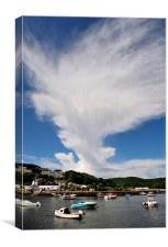 Large cloud over the River Looe, Canvas Print