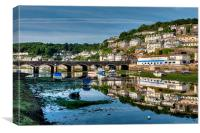 Reflections by Looe Bridge, Canvas Print