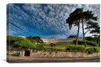 The Osborne Hotel overlooking Meadfoot Beach Torq, Canvas Print