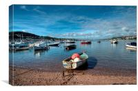 Teignmouth Back Beach, Canvas Print