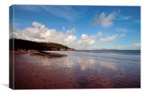 Broadsand Beach Torbay looking towards Torquay, Canvas Print