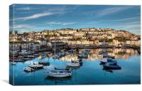 Brixham Harbour early morning light, Canvas Print