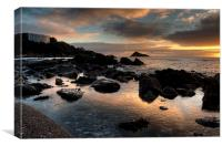 Meadfoot Beach Sunrise , Canvas Print