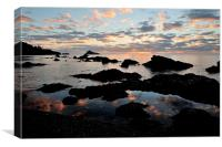 Meadfoot Beach Sunrise Torquay, Canvas Print