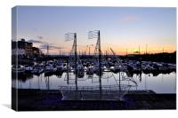 Torquay Harbour Devon Sunset, Canvas Print