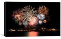 Fireworks Torquay , Canvas Print