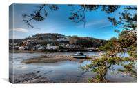 Low Tide on the River Looe, Canvas Print