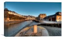 Early winter morning on the River Looe, Canvas Print