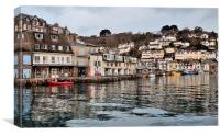 High Tide on the River Looe , Canvas Print