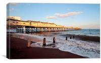 Teignmouth Pier at Golden Hour , Canvas Print