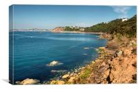 Meadfoot Beach Torquay view from the Coast Path, Canvas Print