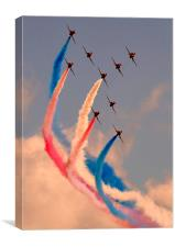 Red Arrows Airshow, Canvas Print