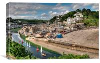 Sailing afternoon at Looe South East Cornwall, Canvas Print