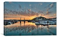Torquay Harbour sunset , Canvas Print