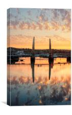 Sunset over Torquay Bridge, Canvas Print